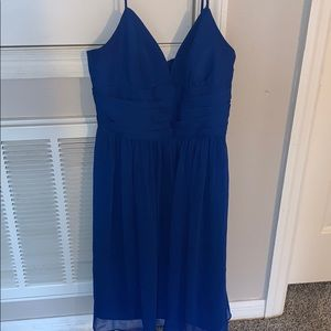 WORE ONCE blue flowy quince court dress